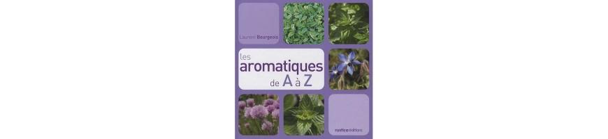 Les livres consacrés aux plantes aromatiques de Laurent Bourgeois.