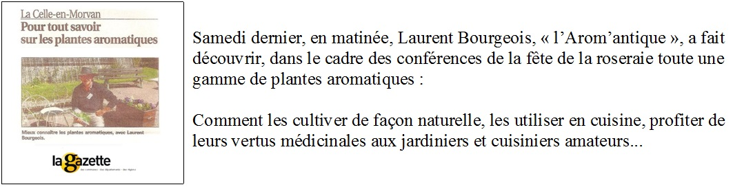 conférence sur les plantes aromatiques
