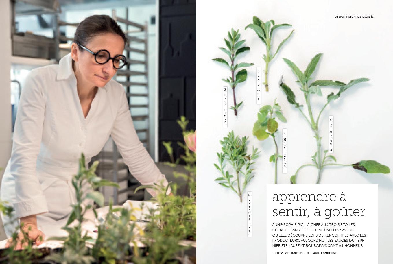Anne Sophie Pic plantes aromatiques