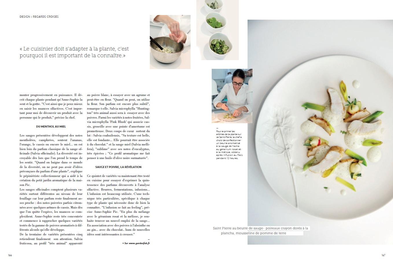 Laurent Bourgeois dans la cuisine d'Anne Sophie Pic