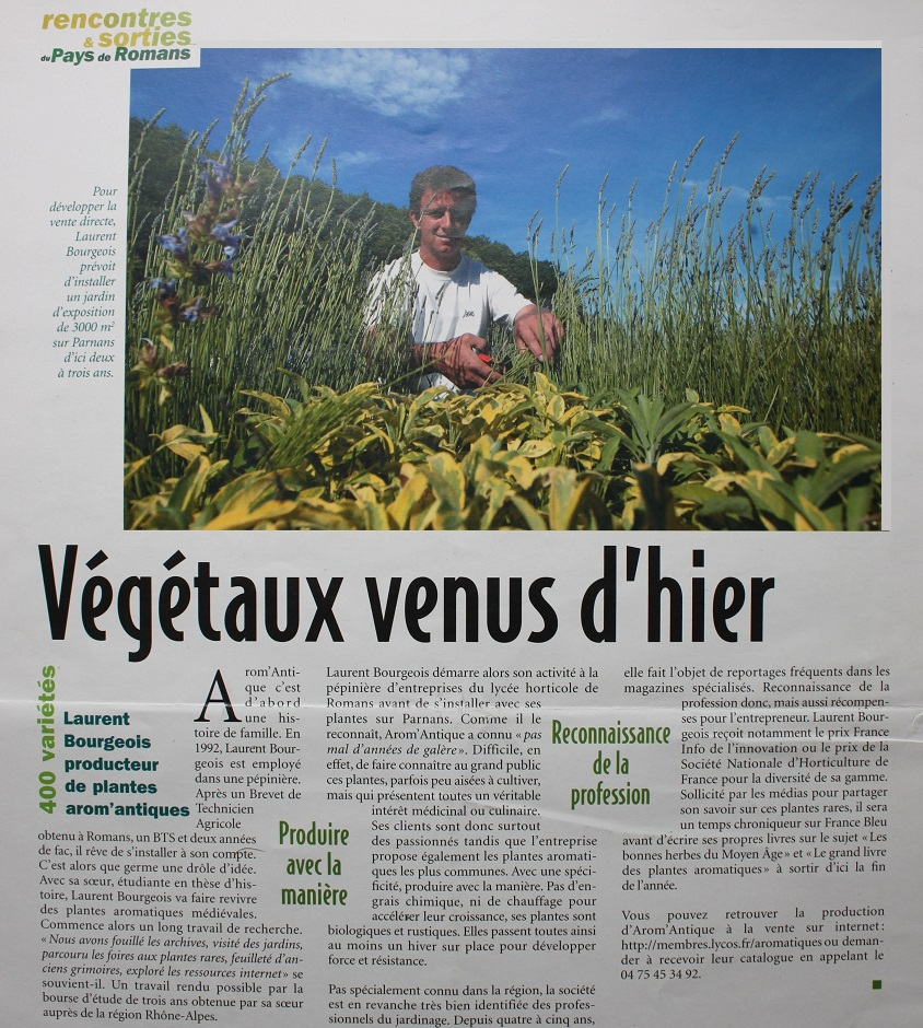 article sur les végétaux venus d'hier