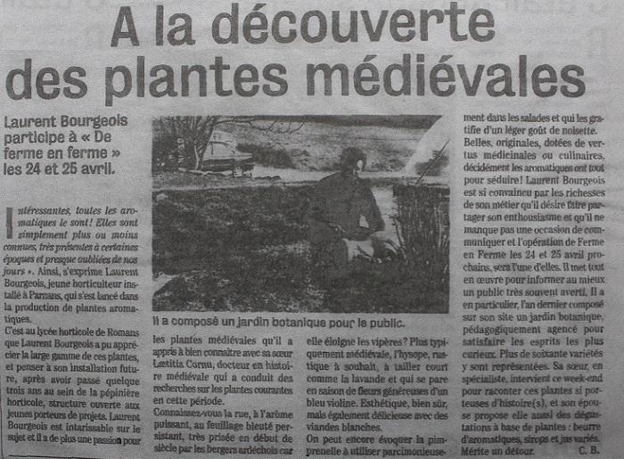 A la découverte des plantes médiévales