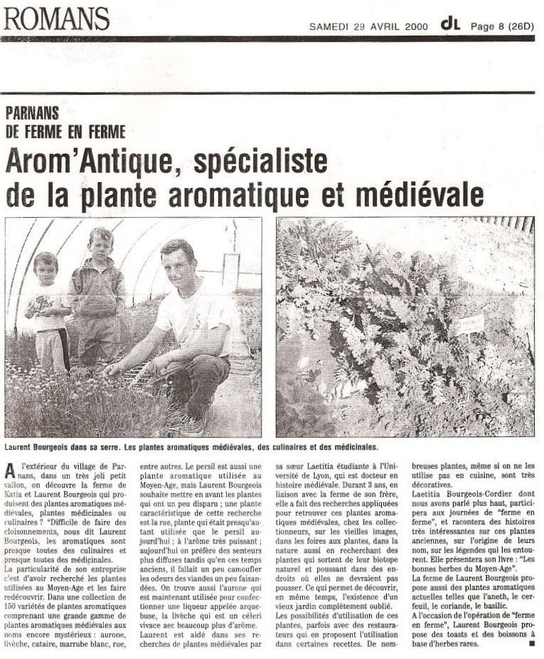 Arom'antique spécialiste de la plante aromatique et médiévale